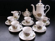 Coffee set hunting Mary Anne 363 15 Piece