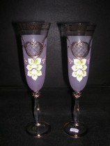 Flutes Angela 190 ml. purple 2 pc.