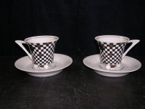 Cup with saucer 0.15 L. Obelisk 95300 2 pcs.