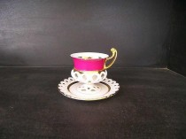 Cup and saucer Byzantine purple, pruned 0.15 ml.