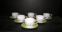 Cup and saucer Viola 012V 6pcs coffee.