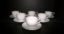 Cup and saucer Viola 160 ml. 6pcs White