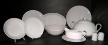 Porcelain dinner set Viola 28pcs. white
