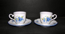 Cup and saucer Ophelia forgetmenot 140 mm 2pcs.