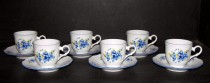 Cup and saucer Ophelia forgetmenot 6pcs 140mm.