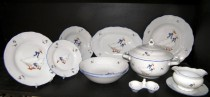 Porcelain dinner set Goose Ophelia 313 25pcs.