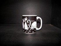 Big Black Cat Mug 0.5l