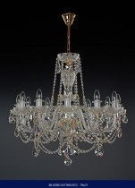 Cut crystal chandelier, 12-spoke 79 x 75  02001/57001/012-79*75