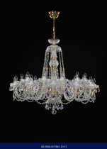 Cut crystal chandelier arm 12 +12 02001/57001/12+12