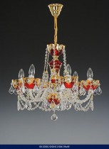 6 arm chandelier Enamel 02001/00411/006 59 * 49