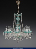 Color crystal chandelier 8 arm 02001/10179/008 60 * 62