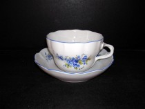 Cup and saucer D decor forgetmenot 0.4 l.