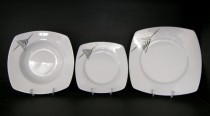 Porcelain tableware Tetra 023V 18pcs.