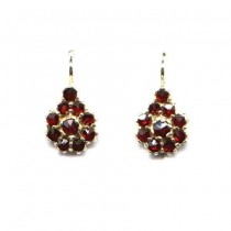 EARRINGS 3267 BOHEMIAN GARNET