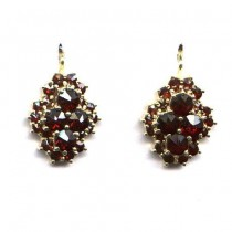 EARRINGS BOHEMIAN GARNET 3532