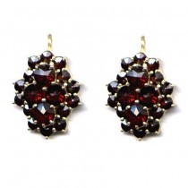 EARRINGS BOHEMIAN GARNET 3533