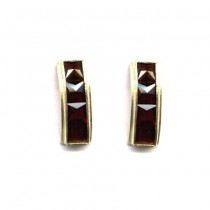 EARRINGS BOHEMIAN GARNET 3540