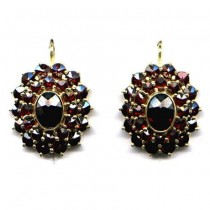 EARRINGS BOHEMIAN GARNET 3573