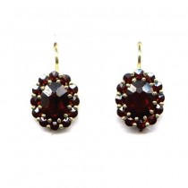 EARRINGS GARNET 3577