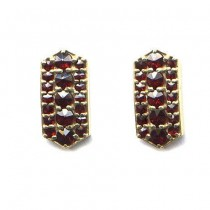 EARRINGS GARNET 3893
