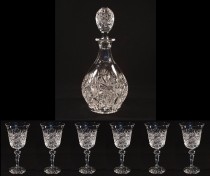 Cut crystal wine set 42055/02116/41448/095/220 7-segment.