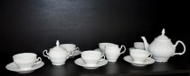 Tea Set Bernadotte white 15 pcs.