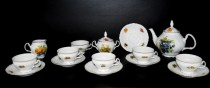 Tea set Bernadotte decor fruit 15pcs.