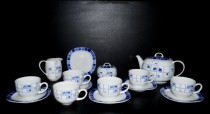 Tea set Leon blue flower 15 pcs