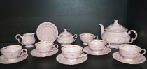 Tea Set Sonata 158 Pink 15 Piece.