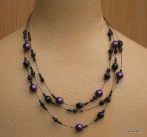 Black and purple necklace