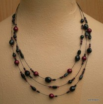 Black and garnet necklace