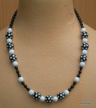 Black and white necklace of beads
