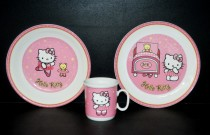 "Baby kit Catrin decor ""Hello Kitty"" pink 3 pieces."