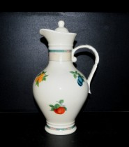 Water jug 2,3 l., Porcelain fruit, ivory color
