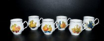 Mug Jonas 0,33l. fruit decor 6pcs.