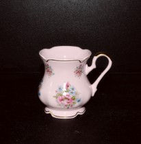 Mug Mary Anne 013 pink porcelain, 0.25 l doll