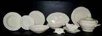 Dining set Bernadotte, color ivory, Bern Yvor 25 pcs.