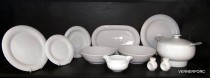 Dining Set 27 piece white Catrin.