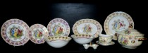 Dinner set Ophelia luster Three Graces 25 pcs.