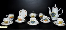 Coffee set Bernadotte decor fruit 15pcs.