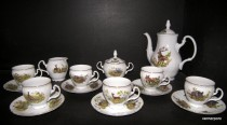 Coffee set Bernadotte hunting 15pcs.