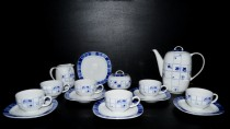 Coffee set Leon blue flower 15 pcs.