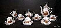 Coffee set Ophelia 788 15pcs hunting motifs.
