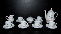 Coffee set, geese porcelain.