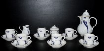 Coffee set Rose, blue cobalt, 15 pieces.