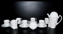 "Scarabeus coffee set 15 pieces, decoration ""flowing flower"""