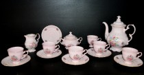 Coffee Set Sonata 013 pink, 15 pcs.