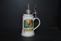 Tankard with a lid 0.5 liters., Beer Lord's Prayer III.