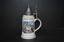 Tankard with lid 0.5 l., Beer Lord's prayer IV.