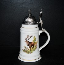Korbel hunting with cover 0.5 l., DEER decor.